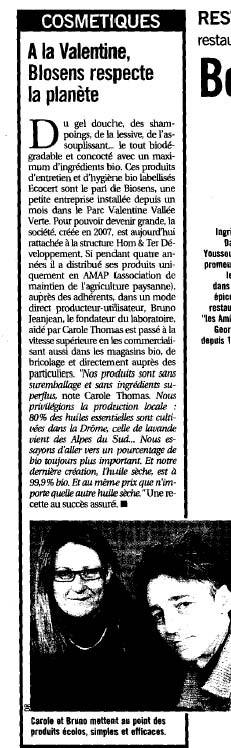L'hebdo de Marseille 12 mai 2009 article.jpg